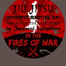 Jiu-Jitsu Fires of War by HandDrawnTees