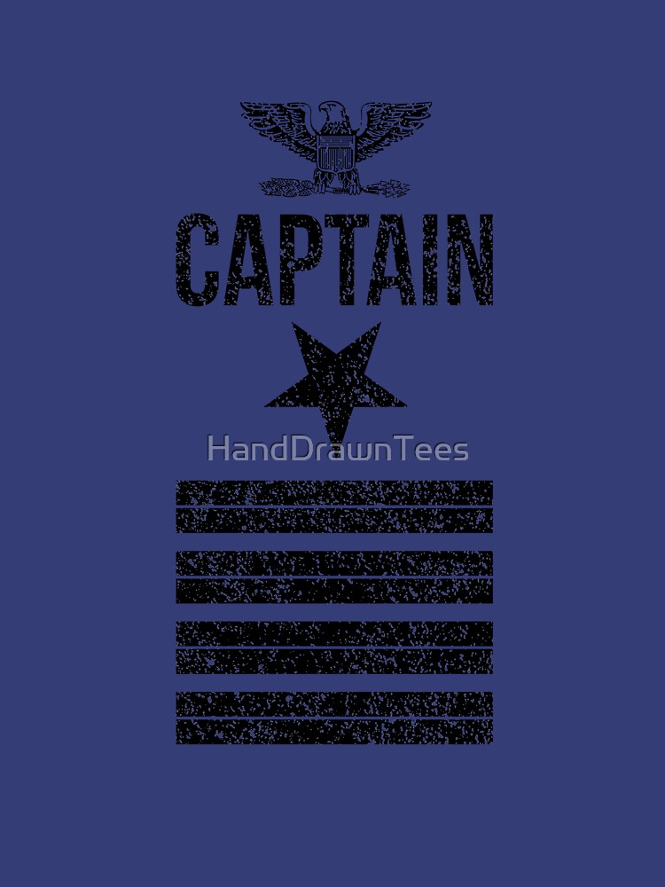 Navy Captain by HandDrawnTees