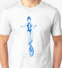 Retro Circus or Carnival Girl Hipster T-Shirt  Unisex T-Shirt