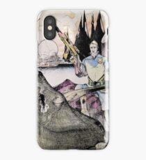 Vintage 70's Galactic Dinosaure Hunter iPhone Case/Skin