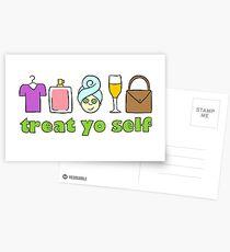 Treat Yo Self Postcards