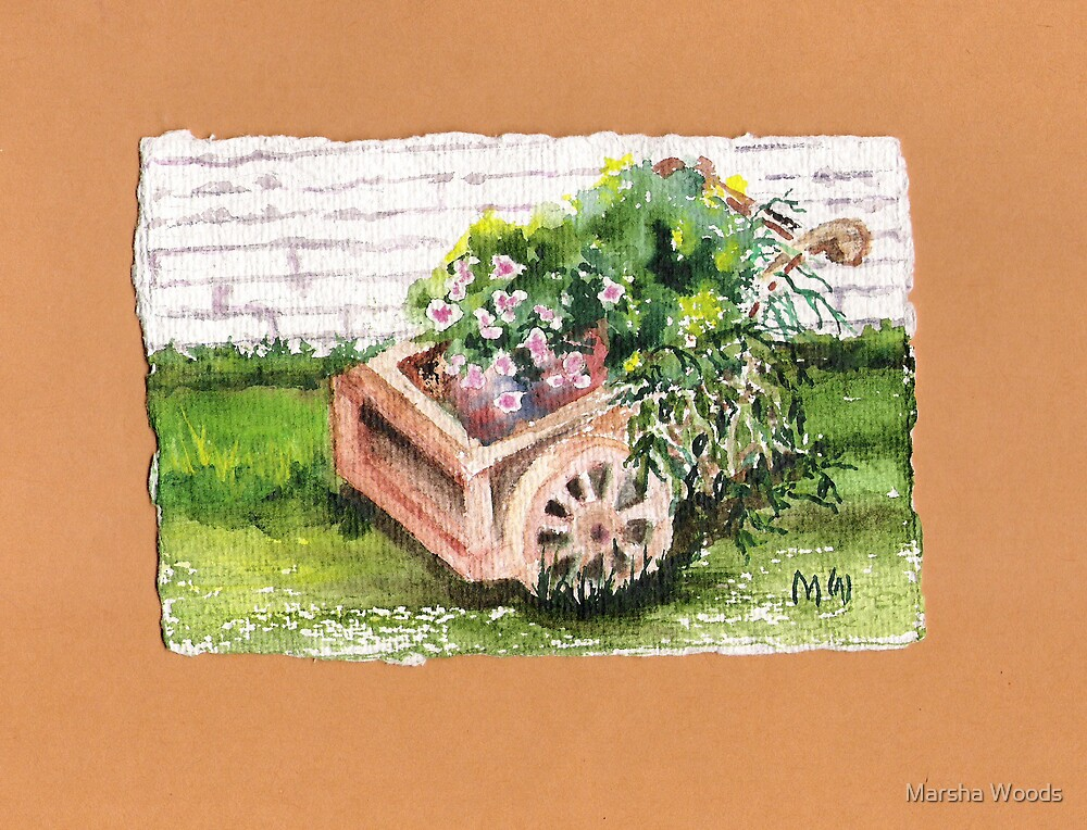 Flower cart by Marsha Woods