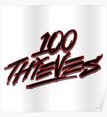 100 Thieves Logo Poster