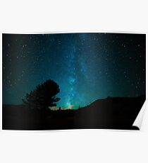 Open Skies Galaxy Poster