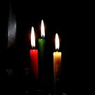 Candles Flames Burning by Evita
