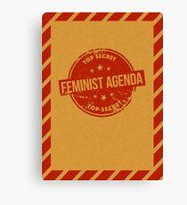 Feminist Agenda Canvas Print