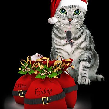 Cat and Mouse Christmas by SalonOfArt