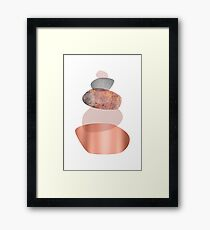 Blush and Copper Balance Framed Print