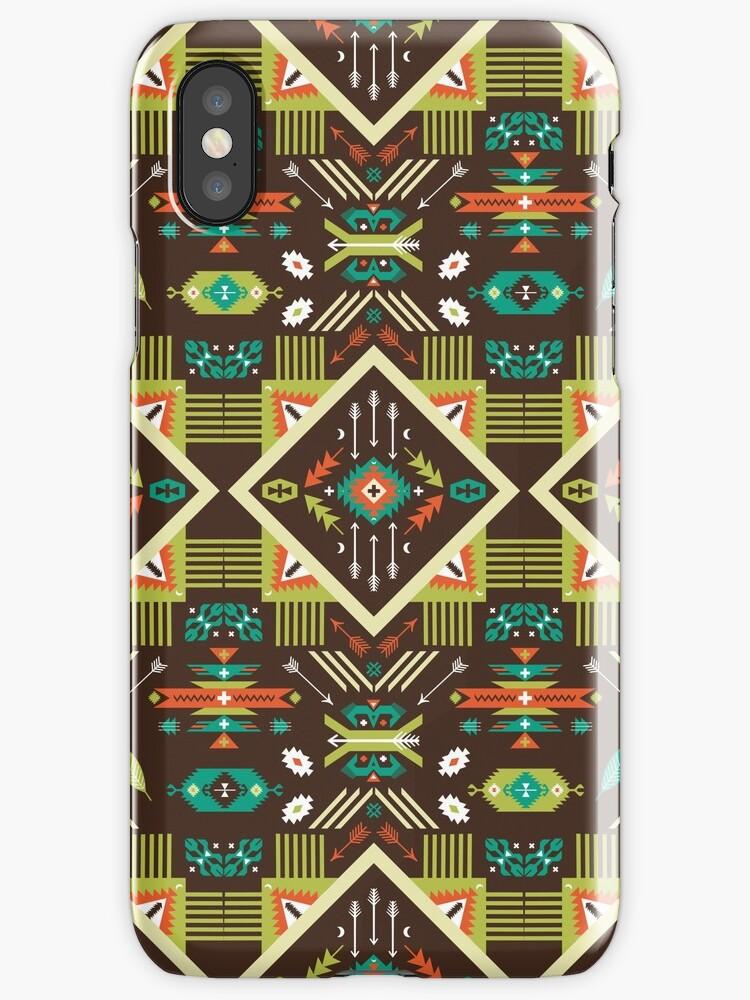 Navajo seamless colorful tribal pattern by Olena Syerozhym