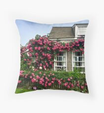 Roses in Nantucket Throw Pillow