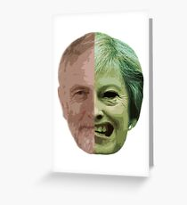 Corbyn/May Two-Face Greeting Card