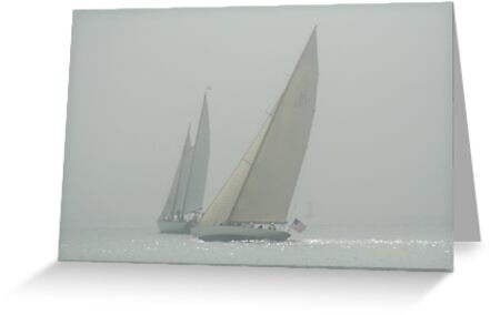 Sailing into the Fog!  Please view large! by Linda Jackson