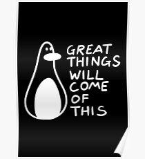 Motivational Penguin Poster
