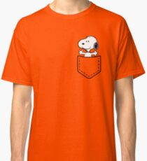 Pocket Snoopy Dog Classic T-Shirt