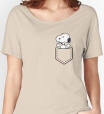 Pocket Snoopy Dog Women's Relaxed Fit T-Shirt