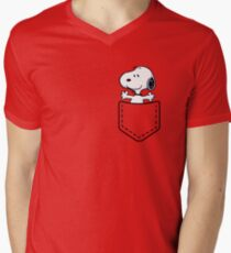 Pocket Snoopy Dog Men's V-Neck T-Shirt