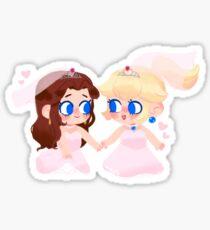 Peach & Pauline Bride Chibis Sticker