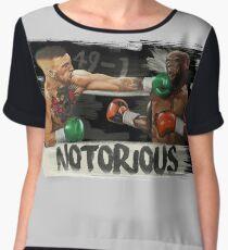 McGregor Mayweather Brushstroke KO Women's Chiffon Top