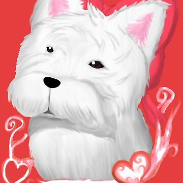 West highland Terrier Bow ( Red ) by Redjiggs