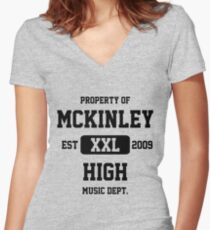 Property of McKinley High Music Department - Glee Women's Fitted V-Neck T-Shirt