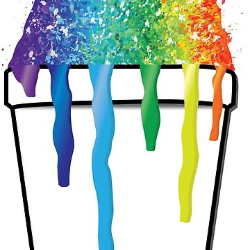 Sweet Rainbow Snoball #redbubble #colorful #color  by StudioBlack