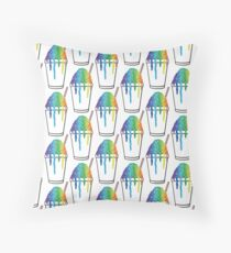 Rainbow Snoball Throw Pillow