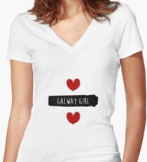 ed sheeran Galway Girl design - Blues song Women's Fitted V-Neck T-Shirt