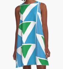 International Vegan Flag A-Line Dress