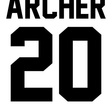 "Newland Archer ""20"" Jersey by ShirtAutonomy"