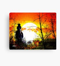 Asleep in the Saddle Canvas Print