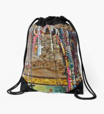 Rosaries at El Sanctuario de Chimayo Drawstring Bag