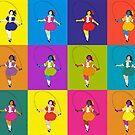 Warhol Skipping Girl by jamjarphotos