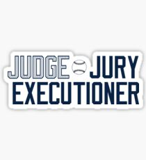 "@RunADZ_ ""Judge Jury Executioner"" Sticker"