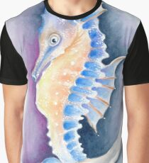 Seahorse Watercolor Art Graphic T-Shirt