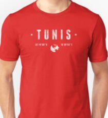 Tunis geographic coordinates Slim Fit T-Shirt