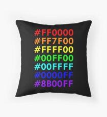 Rainbow HTML color codes Throw Pillow