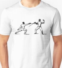 Fencing, Drawing (Sword Fighting) T-Shirt