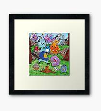 Pokemon Crowd Framed Print