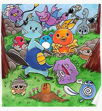 Pokemon Crowd Poster