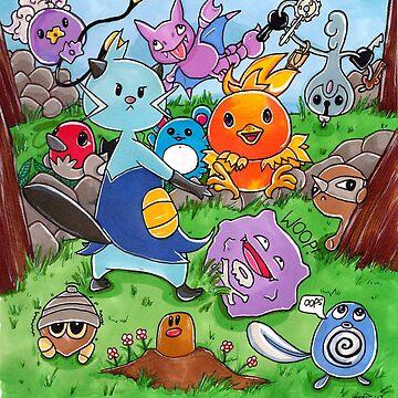 Pokemon Crowd by katrinahajowyj