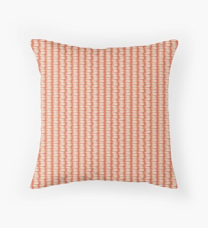 Red Rice Grain Pattern Throw Pillow