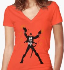 The Ace of Spades Women's Fitted V-Neck T-Shirt