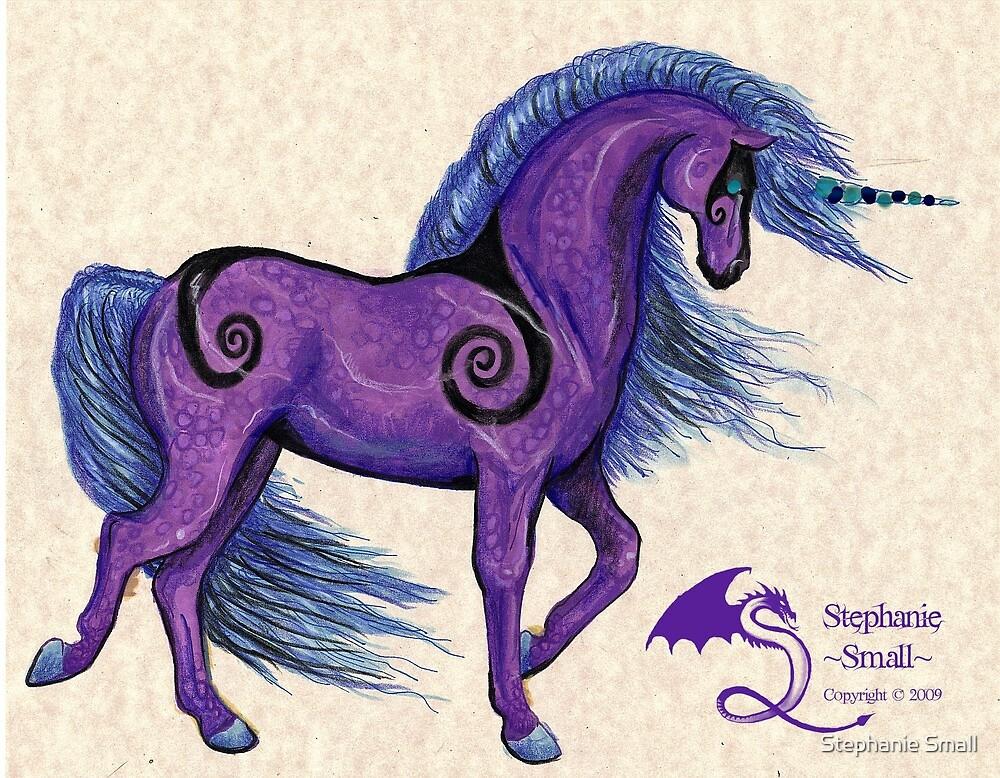 Purple Unicorn by Stephanie Small