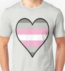 DemiGirl Flag Heart - Black T-Shirt