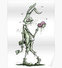 Bugs Zombunny (green) Poster