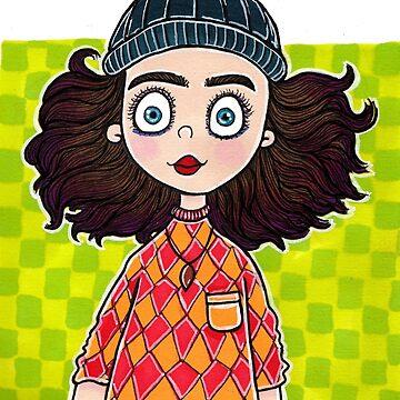 Checkered Beanie by katrinahajowyj
