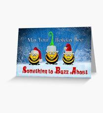 Honey Bee Christmas Greeting Card