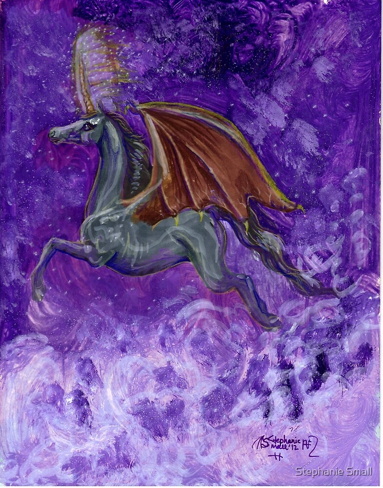 Bat Winged Unicorn by Stephanie Small