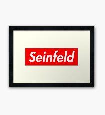 Seinfeld - Supreme Parody Framed Print