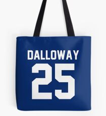 "Clarissa Dalloway ""25"" Jersey Tote Bag"